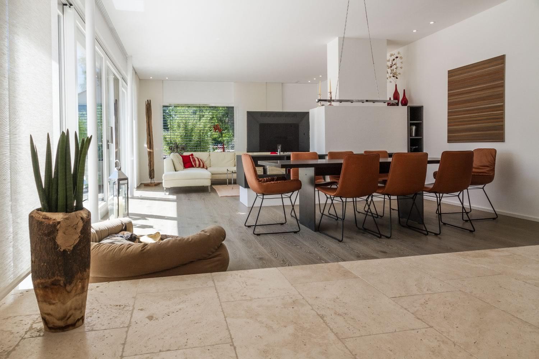 einfamilienhaus mit garage m13 architekten. Black Bedroom Furniture Sets. Home Design Ideas