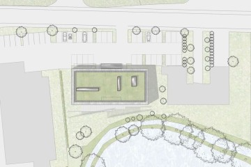 1_Vitalpavillon_Aerztehaus_Apotheke_Cafe_Inning_Ammersee_Bauzeichnung_Lageplan