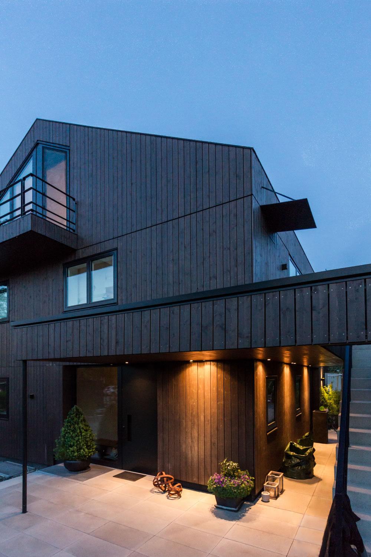 Neubau eines einfamilienhauses mit garage m13 architekten - Buro 13 architekten ...